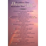 To Achieve Your Dreams Remember Your ABCs 3rd Edition Poster With Rainbow Sky Background